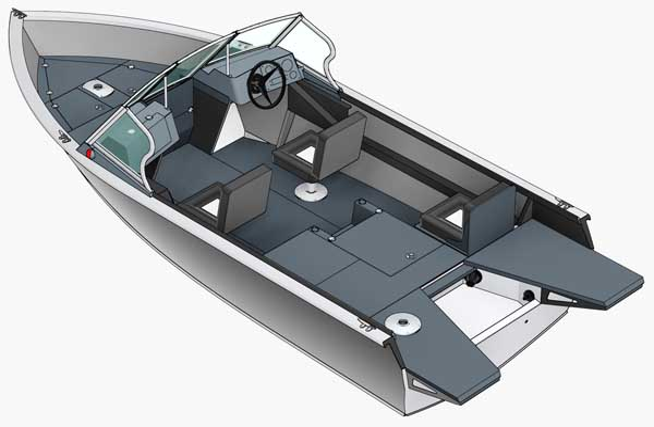 Моторная лодка Realcraft Impulse 470 FISH PRO<br>Калькулятор-конфигуратор.